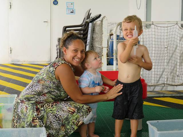 James & Joseph with their amazing nursery teacher.