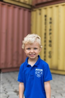 James' first day of pre-school