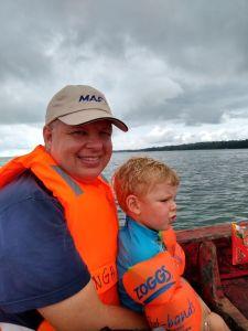 Stu & Joe island boat